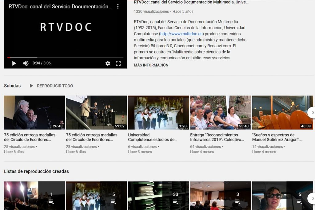 rtvdoc servicio documentación multimedia