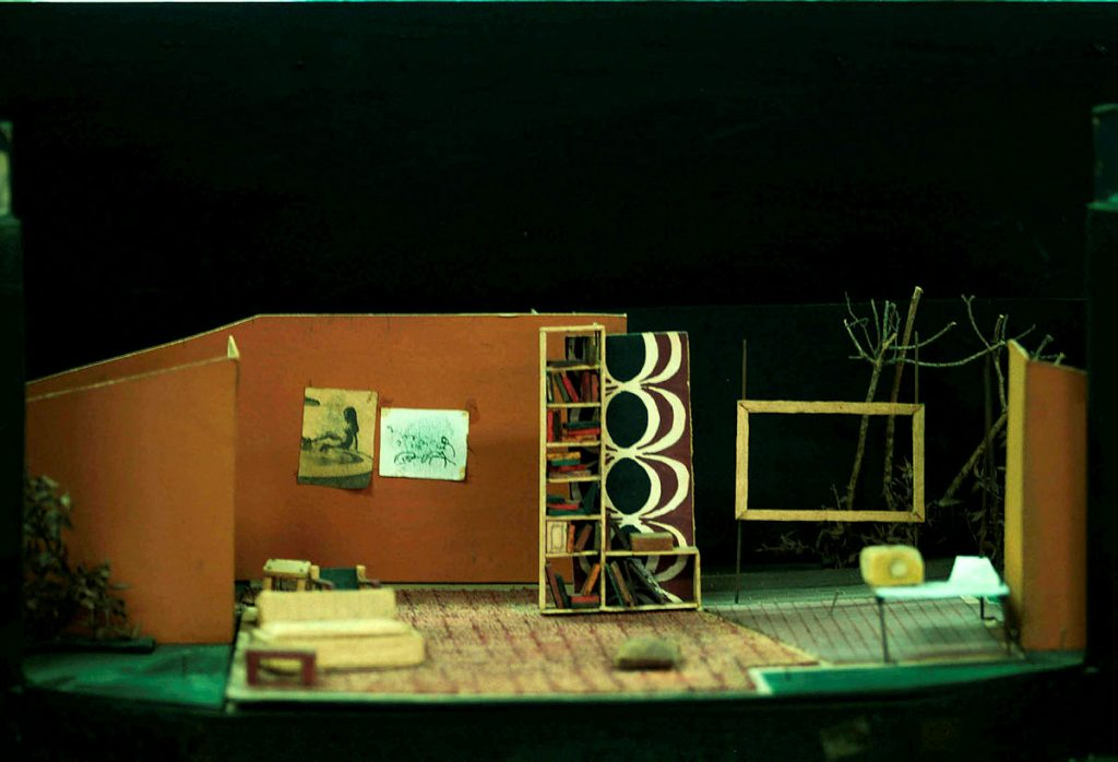 Photo of a theatre set model