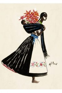 Mexicana in the Archives: Alfredo Bouret's fashion illustrations