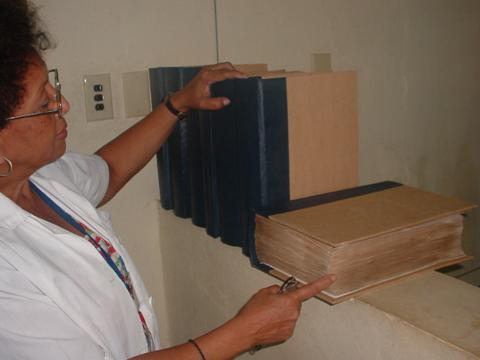 Inés Baro en su laboratorio
